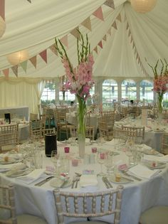 Stunning gladioli wedding table