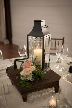 Candle centerpieces- could use variety of partylite lanterns Lantern Centerpiece Wedding, Wedding Lanterns, Candle Centerpieces, Candle Lanterns, Wedding Centerpieces, Candles, Centerpiece Ideas, Diy Lantern, Candle Lighting