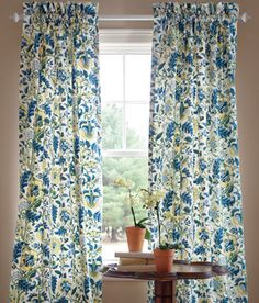 Hatfield Lined Rod Pocket Curtains in Navy Blue  (Not shown here) by Country Curtains.