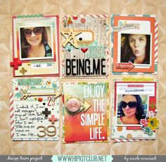 #papercrafting #scrapbook #layout - Nicole Nowosad