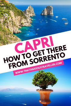 Learn everything you need to know for a Sorrento to Capri day trip with this step-by-step guide! With exact details on how to get the Capri ferry, and more! Italy Travel Tips, Europe Travel Guide, Travel Guides, Travel Advice, Sorrento To Capri, Capri Italy, Italy Honeymoon, Italy Vacation, European Destination
