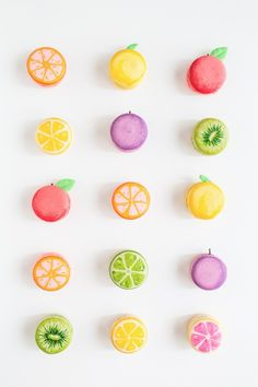 DIY fruit macarons. Such a cute idea!
