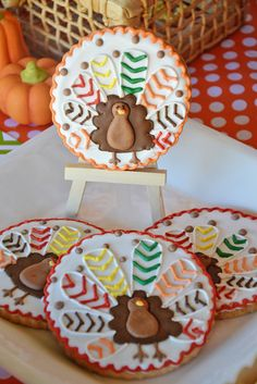 Thanksgiving Party Cookies  #thanksgiving #cookies