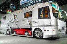 Sports car & camper van