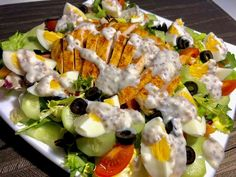 Food N, Good Food, Food And Drink, Asian Recipes, Healthy Recipes, Ethnic Recipes, Appetisers, Tofu, Cobb Salad