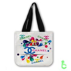 Sell chanel paint squirt Abstract Tote Bags cheap and best quality. *100% money back guarantee
