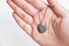 DIY Faceted Heart Charm