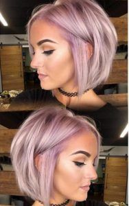 Icy lavender bob by Kristi Mac