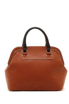 Pink Cosmo Stud Trim Framed Handbag @Pascale Lemay Lemay De Groof