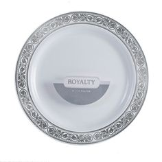 Royalty 7 1/2 Inch Plastic White Plates with Silver Band/Case of 120 Tags:  Salad Plates; Royalty; disposable Salad Plates;plastic Salad Plates;catering Salad Plates;wedding Salad Plates;;; https://www.ktsupply.com/products/32788327215/Royalty-7-12-Inch-Plastic-White-Plates-with-Silver-BandCase-of-120.html