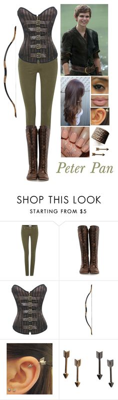 """Inspired by Once Upon A Time: Peter Pan"" by kittykat10101 ❤ liked on Polyvore featuring Once Upon a Time, Paige Denim, John Fluevog, Monki, peterpan, onceuponatime and ouat"