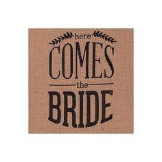 fanion-en-jute-inscription-noire-here-comes-the-bride.jpg (600×600)