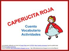 """MATERIALES - Cuento adaptado """"Caperucita roja"""" y actividades para trabajar distintos contenidos relacionados con el cuento. http://arasaac.org/materiales.php?id_material=914"""