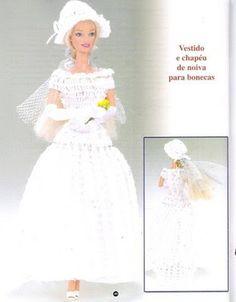Artesanato diversão e prazer: Vestidos de croche para barbie