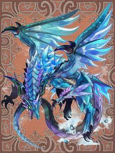 玄野ゆうし - ケルベロスブレイド Fantasy Dragon, Anime Fantasy, Fantasy Art, Dragon Armor, Ice Dragon, Scary Drawings, Fantasy Drawings, Fantasy Monster, Monster Art