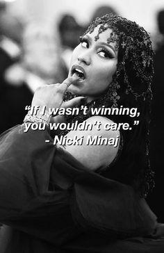 31 ideas for music quotes lyrics rap nicki minaj Beyonce Nicki Minaj, Nicki Minaj Quotes, Nicki Minaj Lyrics, Nicki Minja, Rapper Quotes, Baddie Quotes, Bitch Quotes, Song Quotes, Movie Quotes