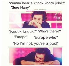 Another classic Harry Styles joke<<<haha, so cheesy, but yet so funny, his face as he tells it is just hysterical! XD