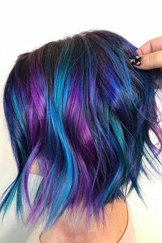 Blue and Purple Hair Color Ideas Blaue und lila Haarfarbe Ideen Hair Color 2017, Hair Color Purple, Cool Hair Color, Bright Purple Hair, Unicorn Hair Color, Bright Hair Colors, Blue Ombre, Rainbow Hair Colors, Amazing Hair Color