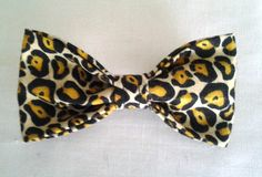 Leopard Print Pet Collar Bow Tie one size fits all by GymboHannah, $10.00