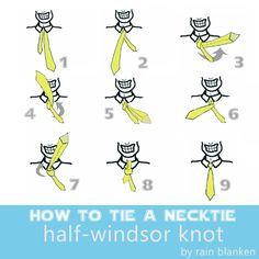 How to Tie Tie: Half-Windsor Knot: How to Tie Tie: Half-Windsor Knot