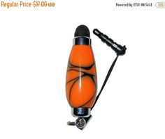 ON SALE Orange and Black Mini Stylus for Ipad by CraftCrazy4U