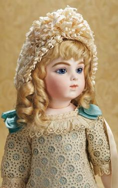 The Well-Bred Doll: 133 A Very Beautiful French Bisque Bebe by Leon Casimir Bru with Gorgeous Eyes