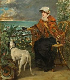 https://flic.kr/p/fxGStx | Alfred Stevens - Lady with a Dog
