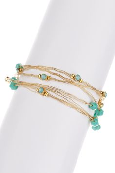 Swarovski Crystal & Glass Bead Bracelets - Set of 6 on HauteLook