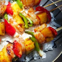 A Table At Robert Ridge: Sweet and Spicy Shrimp Pineapple Kebabs