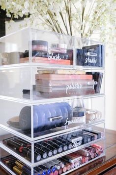 Acrylic stacking drawers are our go-to resolution for make-up. , Acrylic stacking drawers are our go-to resolution for make-up. Acrylic stacking drawers are our go-to resolution for make-up. Diy Makeup Organizer, Makeup Organizing Hacks, Organizing Ideas, How To Organize Makeup, Organising, Organize Make Up, Hair Organizer, Lipstick Organizer, Shoes Organizer