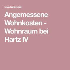 Angemessene Wohnkosten - Wohnraum bei Hartz IV
