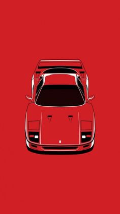 Ferrari F40, Lamborghini Gallardo, Carros Retro, Car Prints, Car Vector, Car Illustration, Car Posters, Car Drawings, Retro Cars