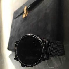 Total Black @wild_store_molfetta!! Cheers guys!!  #Kjøre #photo #leather #envelope #apple #macbook #wallet #wallets #instagram #igers #handmade #accessories #vibram #shoes #backpacks #denim #canvas #premium #newzealand #natural #tanned #oil #evolution #leather #love #minimal #design @kjoreproject