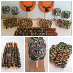 40 Deer Hunting Chocolate Covered Pretzels, Lollipop, Marshmellows and Rice Crispy Treats on Etsy, $50.00