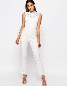 Missguided+Premium+Lace+Yoke+Jumpsuit+with+Embellished+detail