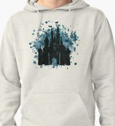Princess Castle Watercolor Pullover Hoodie