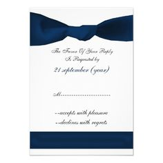 navy blue RSVP standard 3.5 x 5 Personalized Announcement
