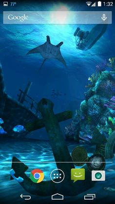 Ocean HD live wallpaper Manta ray