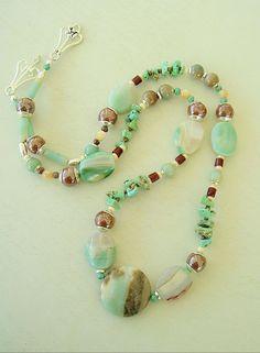 Boho Necklace Southwest Jewelry Bohemian Style by BohoStyleMe, $98.00 #turquoise #pretty