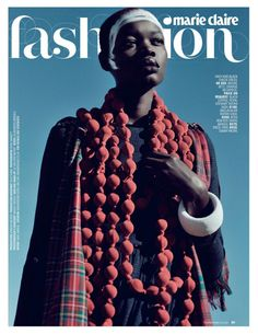 Aluad Deng Anei Sports Tartans and Plaids for Marie Claire South Africa | Fashion Gone Rogue: The Latest in Editorials and Campaigns