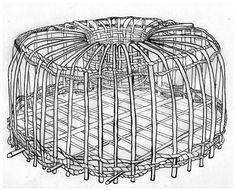 dessin de casier à homards réalisé lors de l'écriture de textes sur les pêcheurs de Tahala, la cité des aigles.