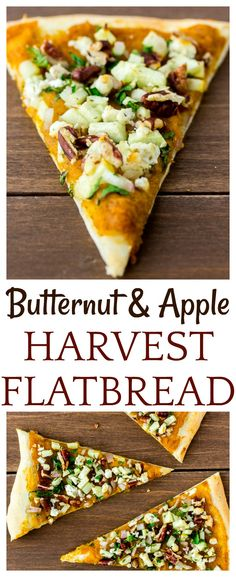 Fall's best flavors come together in this delicious recipe for Butternut Squash Apple Flatbread. Butternut puree is topped with apple, pecans, and kale. Fall Appetizers, Appetizer Recipes, Harvest Appetizers, Recipes Dinner, Pasta Recipes, Crockpot Recipes, Soup Recipes, Dinner Ideas, Chicken Recipes