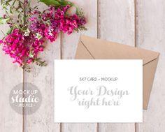 Invitation Mockup 5x7 Card Mockup Styled Spring by MockUpStudio