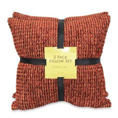 Chaucer Forest Chenille Self Reversing 2 Pack Pillow