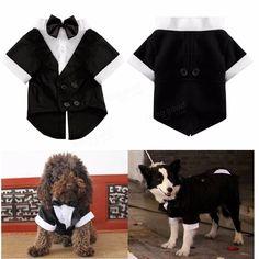 Only US$5.99  shop Pet Dog Cat Clothes Puppy Bow Tie Shirt Wedding Suit Clothes  sc 1 st  Pinterest & Wedding Clothing Pet Dog Tuxedo Gentleman Suit Formal Party Costume ...