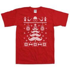 Funny Christmas TShirt Funny Mustache Shirt Christmas Present Ideas Christmas…