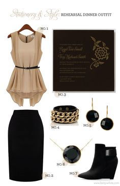Flights of Fancy: Stationery & Style: Rehearsal Dinner Outfit