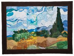 C staff slice quilt 2012 - based on a Van Gogh painting