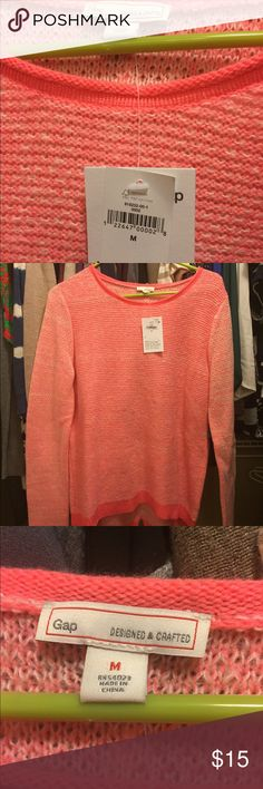 Gap high low sweater Pastel pink  Super soft Never wore GAP Sweaters Crew & Scoop Necks