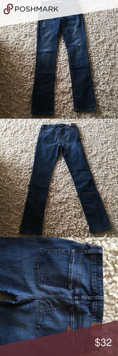 Joes jeans slightly distressed Joes slightly distressed straightleg jeans.  Unaltered.  I excellent condition Joe's Jeans Jeans
